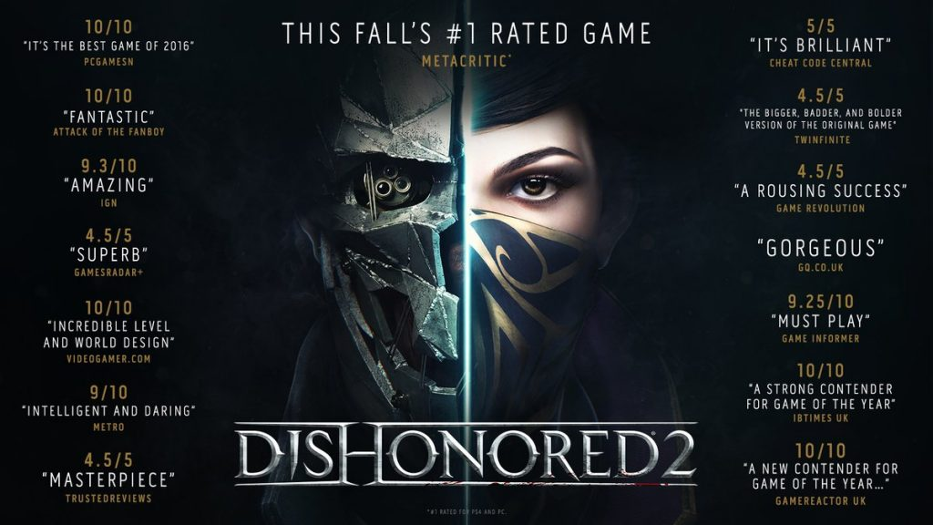 Dishonored 2 is out!!!